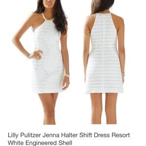Lilly Pulitzer White Halter Shift Dress Size 0
